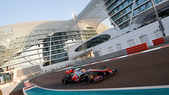 Lewis Hamilton and Sebastian Vettel fight for the top in Abu Dhabi practice