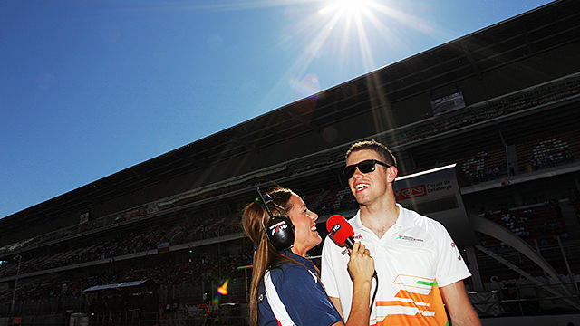 Under sunny skies, Pinkham tackles di Resta