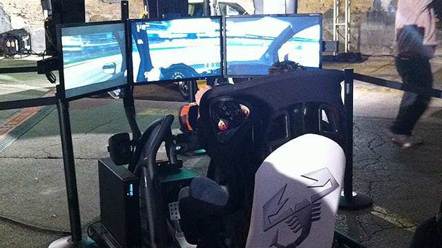 One of the many simulators at Austin FanFest