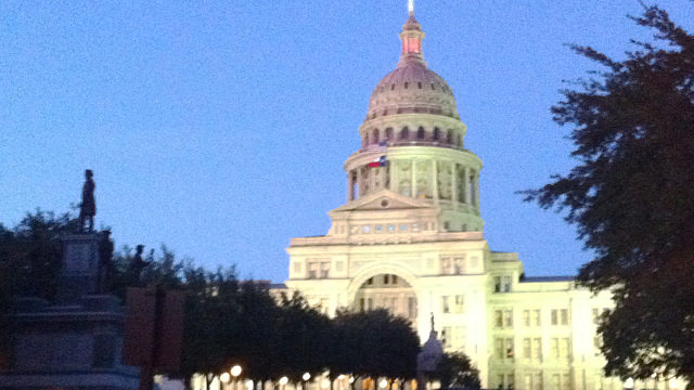 The Texas Capitol building – like the US capitol building, only radioactive