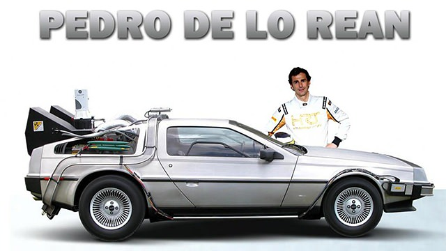 A Delorean for Pedro de la Rosa