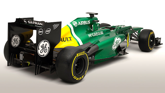 Caterham present the CT03 ahead of Jerez testing