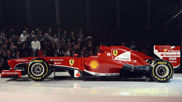 Sitting pretty, the Ferrari F138