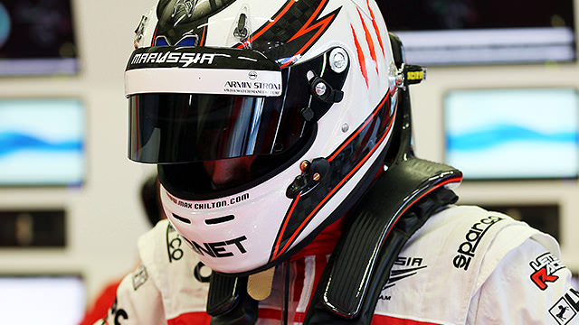 Max Chilton prepares for the opening day of testing