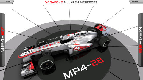 McLaren MP4-28 app screenshot