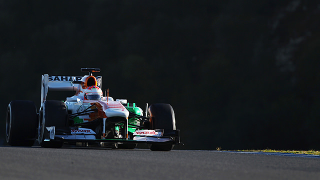 Paul di Resta testing for Force India in Jerez