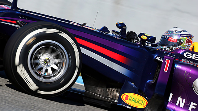 Vettel rolls out in the RB9