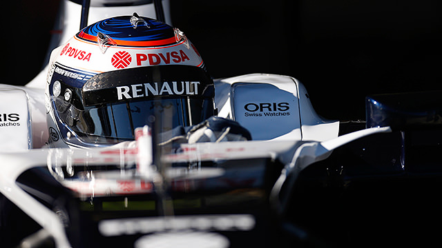 Bottas during F1 testing in Jerez