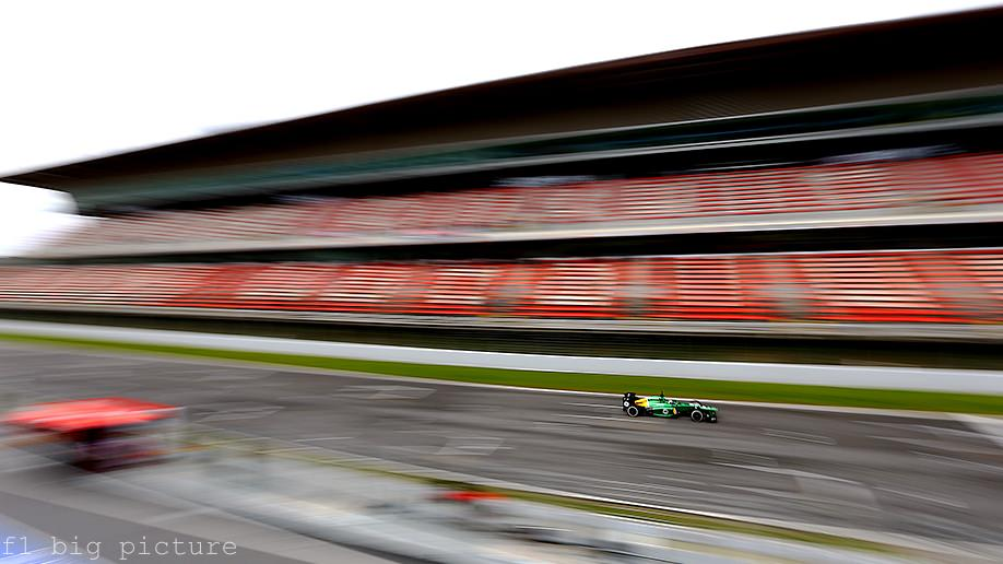 Caterham battle weather and mechanical trouble in Barcelona