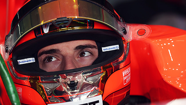 Bianchi has his first outing at Marussia