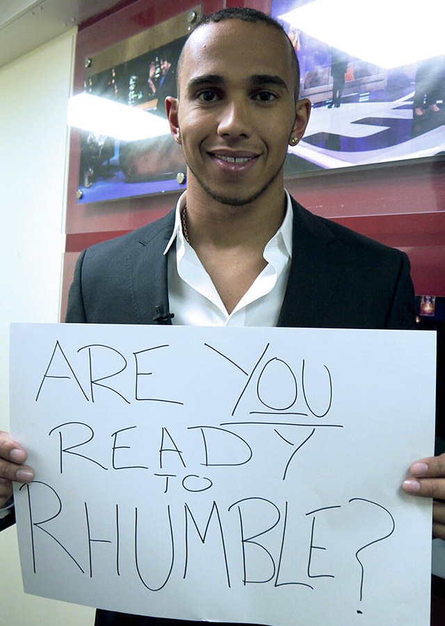Lewis Hamilton: Are you ready to Rhumble?