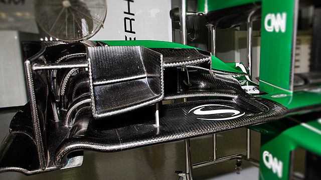 A detailed look at Caterham's front wing