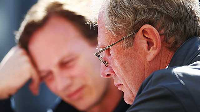 Helmut Marko and Christian Horner