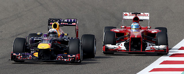 Vettel fends off Alonso in Bahrain