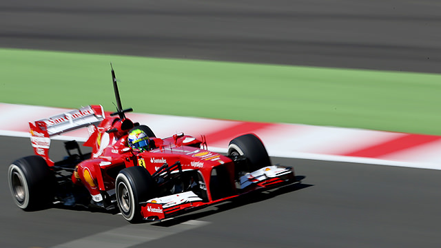 Felipe Massa puts miles on the Ferrari