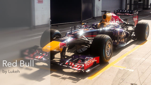 Red Bull F1 car, Silvertstone, July