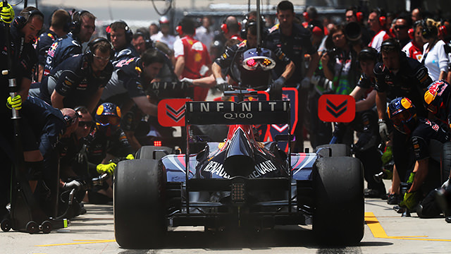 Red Bull Racing ready for a pitstop
