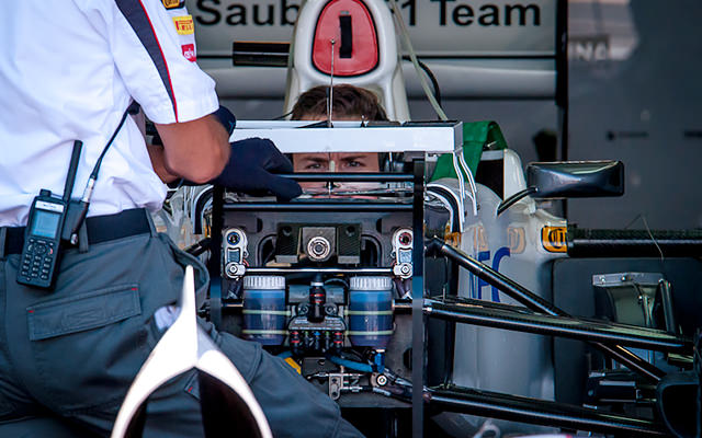 Behind the nose of last year's Sauber