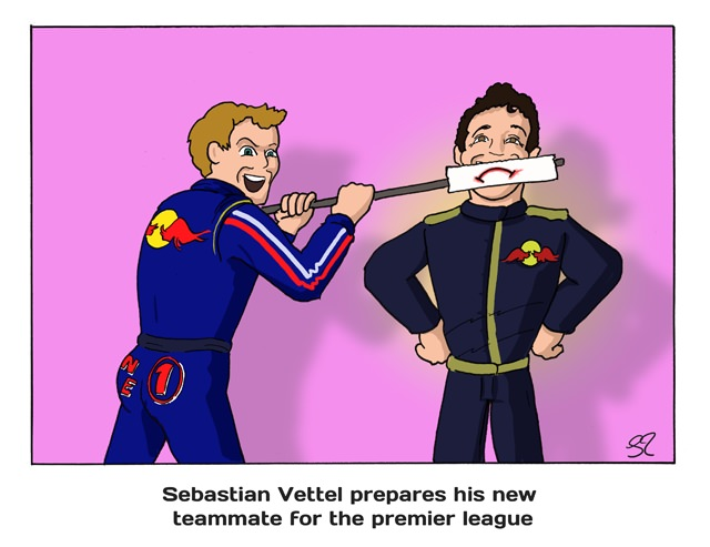 Sebastian Vettel prepares his new teammate for the premier league