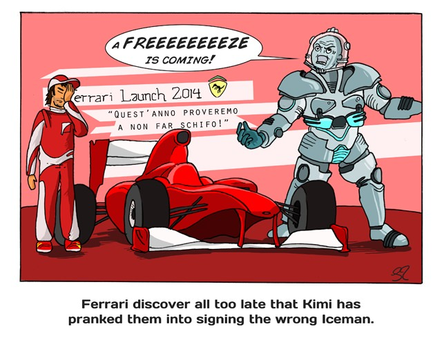 Ferrari sign the wrong Iceman