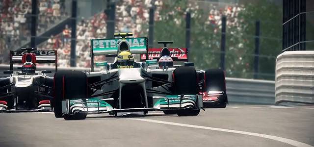 Racing action from F1 2013