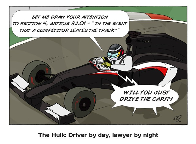 The Hulk: Driver by day, lawyer by night