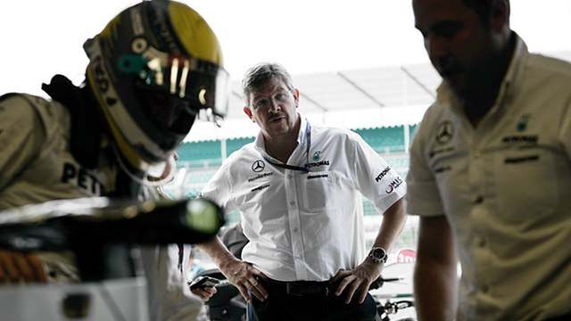 Ross Brawn and Nico Rosberg