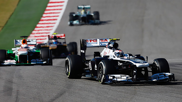 Valtteri Bottas scores his first F1 points