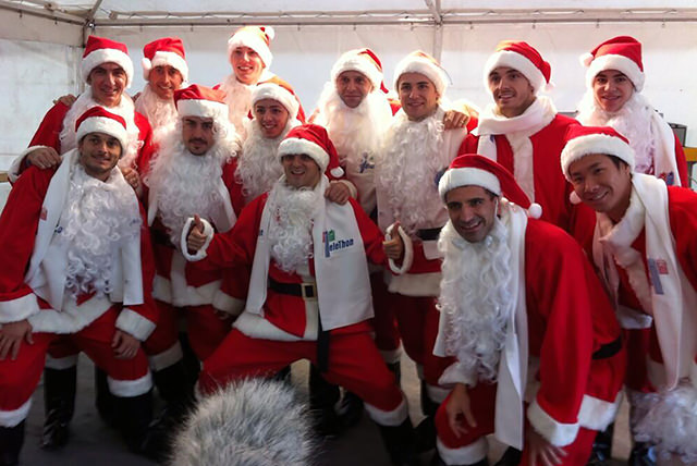 Massa, Alonso and more wearing santa outfits