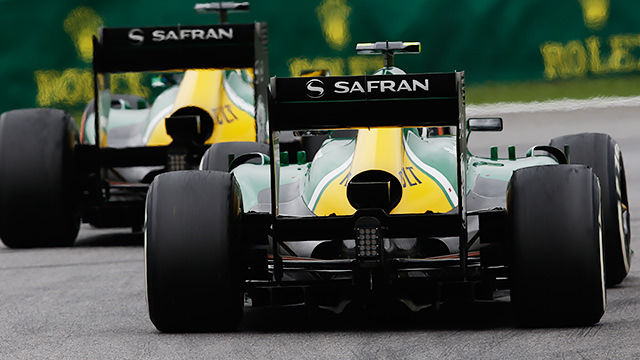 Caterham F1 in Interlagos, Sao Paulo, Brazil