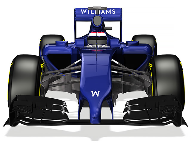 Williams FW36 render (front view)