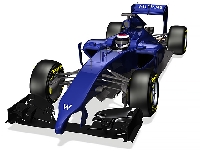 Williams FW36 render (perspective view)