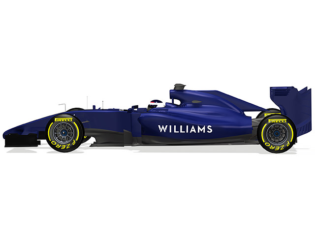 Williams FW36 render (side view)