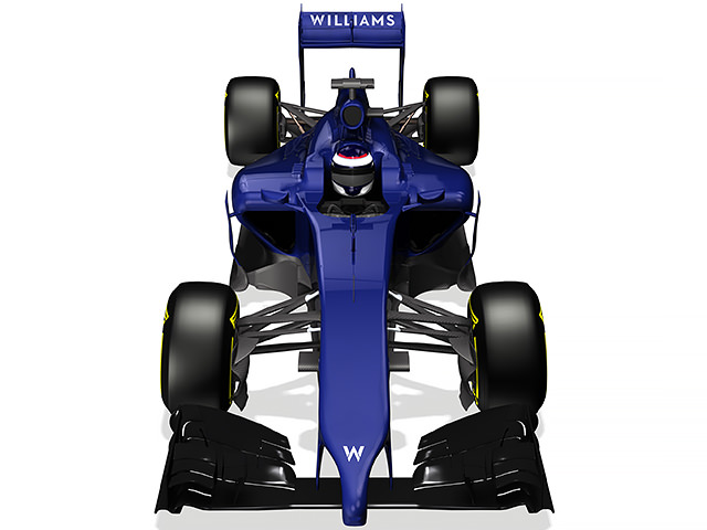 Williams FW36 render (elevated view)