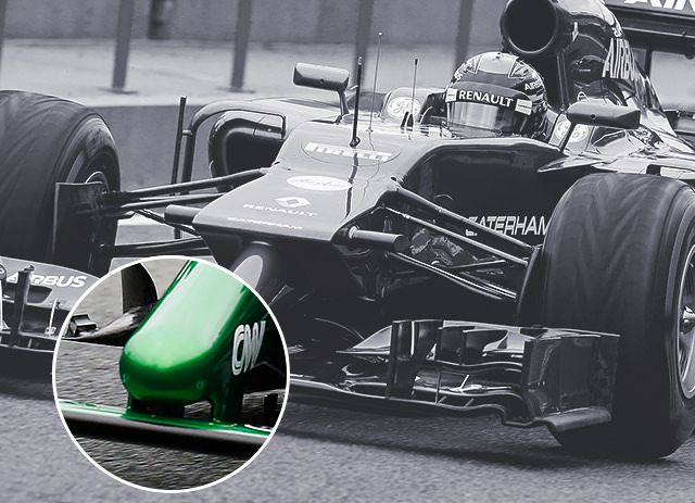 Caterham CT05 nose detail