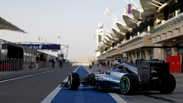 Mercedes bring the session to a halt more than once