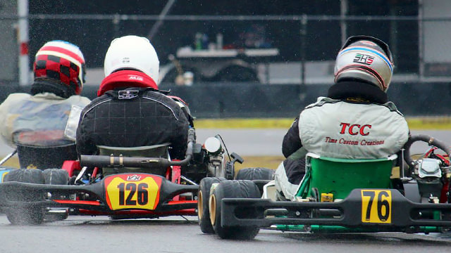 Wet racing in karts