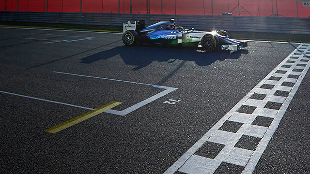 Mercedes testing in Bahrain