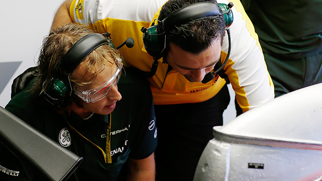 Caterham complete three Friday practice laps in Australia