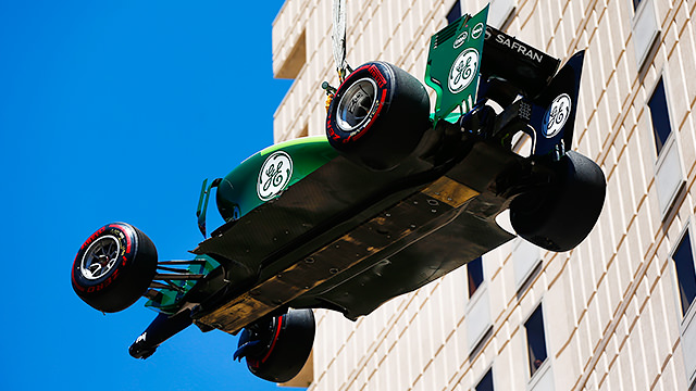 Monaco qualifying sees a Mercedes row and a Caterham crash