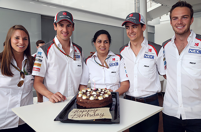 Monisha gets a paddock birthday cake!