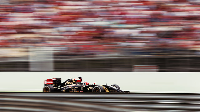 Grosjean held off the Force India's to finish a stunning eighth