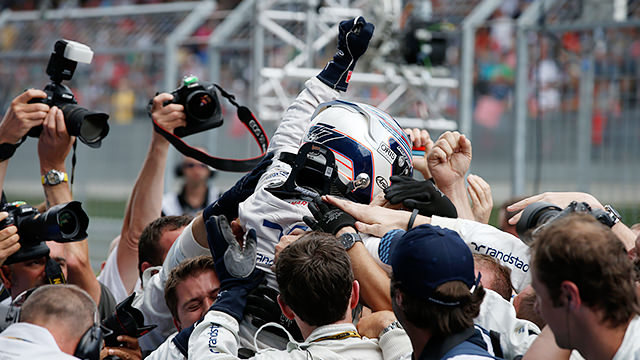 Bottas gets his maiden F1 podium