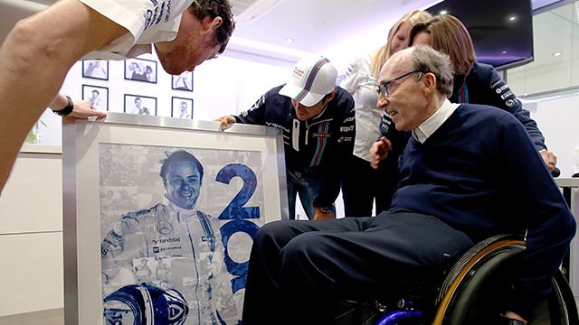 200th Grand Prix celebration at Williams for Massa