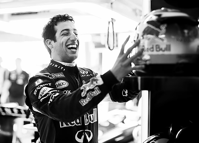 Ricciardo's enjoying his first season with Red Bull a little too much