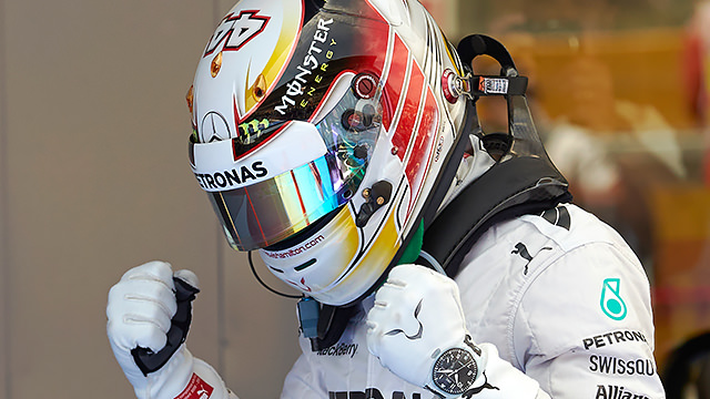 Lewis Hamilton happy with his day's work in Spain