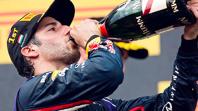 A drop or two for winner Ricciardo