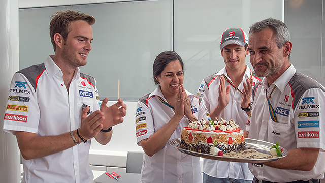 Something to celebrate at Sauber