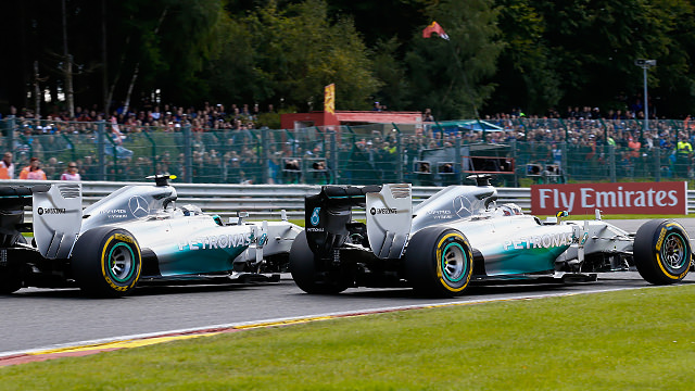 Mercedes continue to deal with fallout of teammate crash in Spa