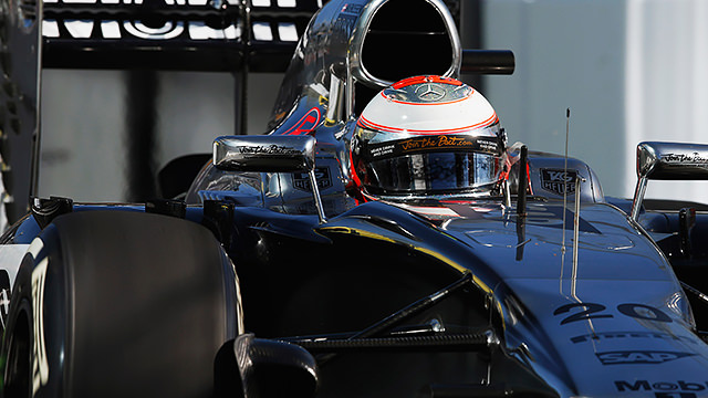 Magnussen maintained position despite pressure from the entire Red Bull stable behind